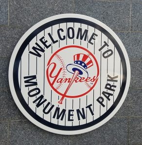 Yankees Monument Park Sign