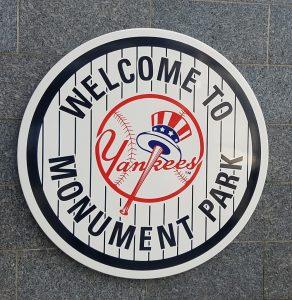 Yankees Monument Park Sign
