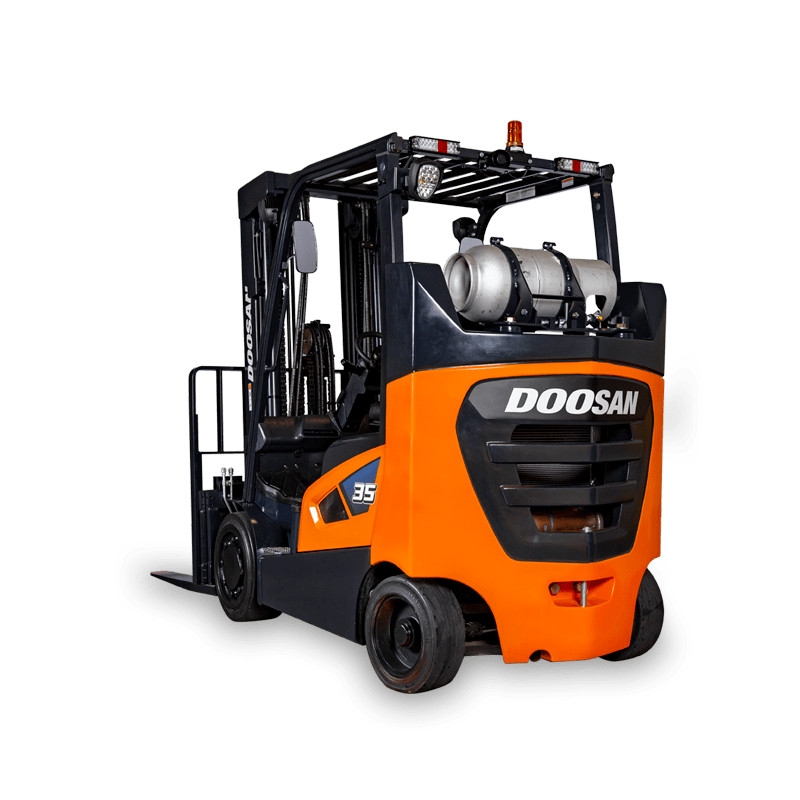 Doosan Lift Truck clear background