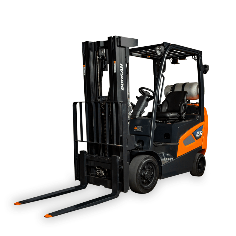 Doosan Forklift clear background