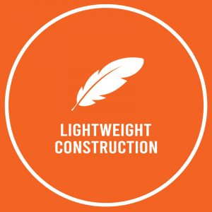 lightweight construction feather icon