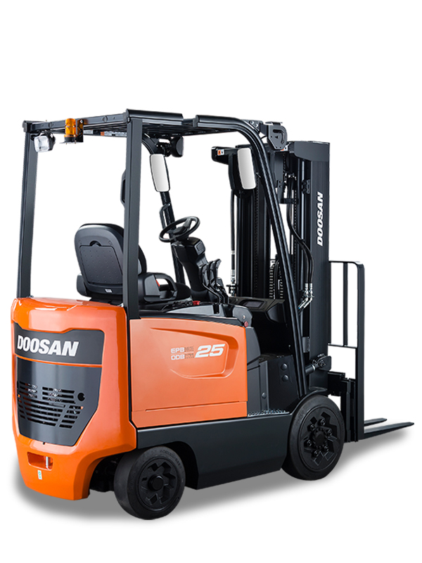 doosan forklift side view
