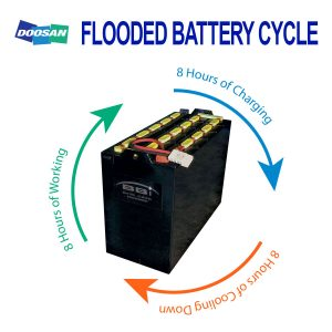 Battery Cycle of a Flooded/Wet Celled Battery